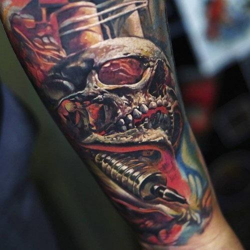 este_realista_tatuagem_de_caveira