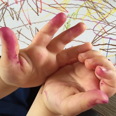 Bunte Finger