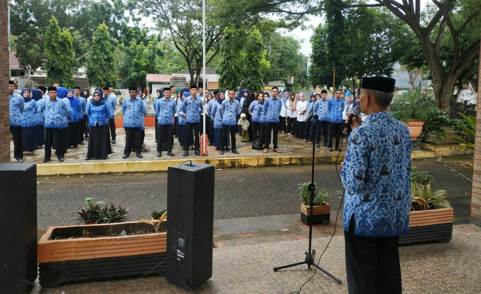 Peringati HKN, Pemerintahan Kecamatan Tanete Riattang Gelar Apel Gabungan