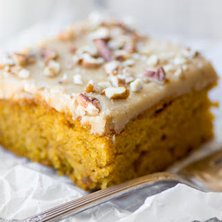 Praline Pumpkin Snack Cake.