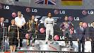 2013 Hungarian Grand Prix podium: 1. Hamilton 2. Raikkonen 3. Vettel