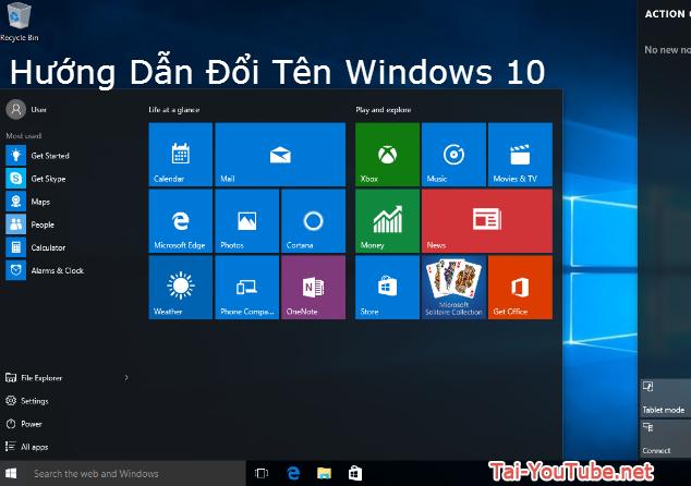Những cách đổi tên máy tính cài Windows 10