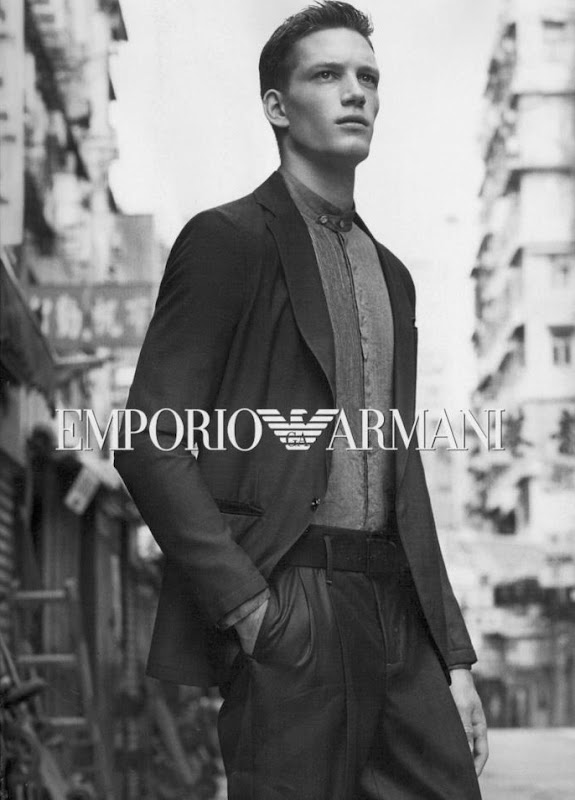 Florian Van Bael @ IMM/Major/Why Not for Emporio Armani S/S 2012. Photographer TBD.
