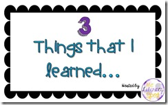 GR 3 things I learned