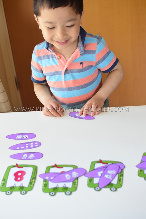 FREE Printable Feed the Snake Number Representation Activity