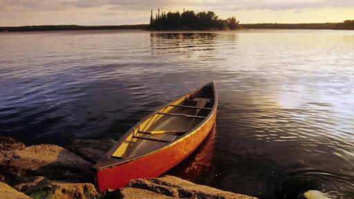 Canoe on Nutimik Lake, Whiteshell Provincial Park, Manitoba, Canada.jpg