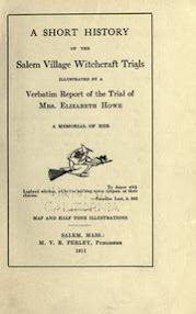 Cover of Martin Van Buren Perley's Book A Short History of the Salem Village Witchcraft Trials OCR Version