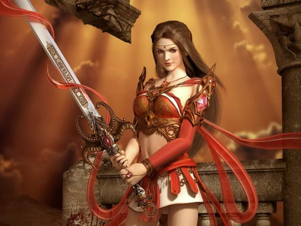 Magic Great Sword And Girl, Warriors