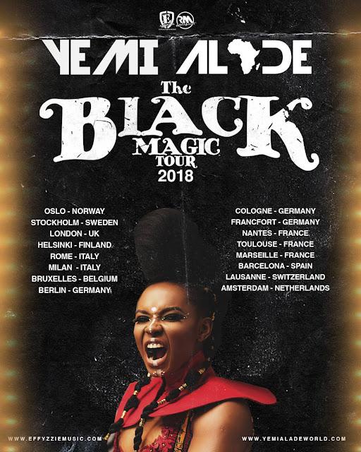 Yemi Alade Set To Tour 11 European Countries
