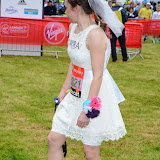 OIC - ENTSIMAGES.COM - London Marathon Bride Laura Harvey at the Virgin London Marathon 2015 in London 26th April 2015  Photo Mobis Photos/OIC 0203 174 1069
