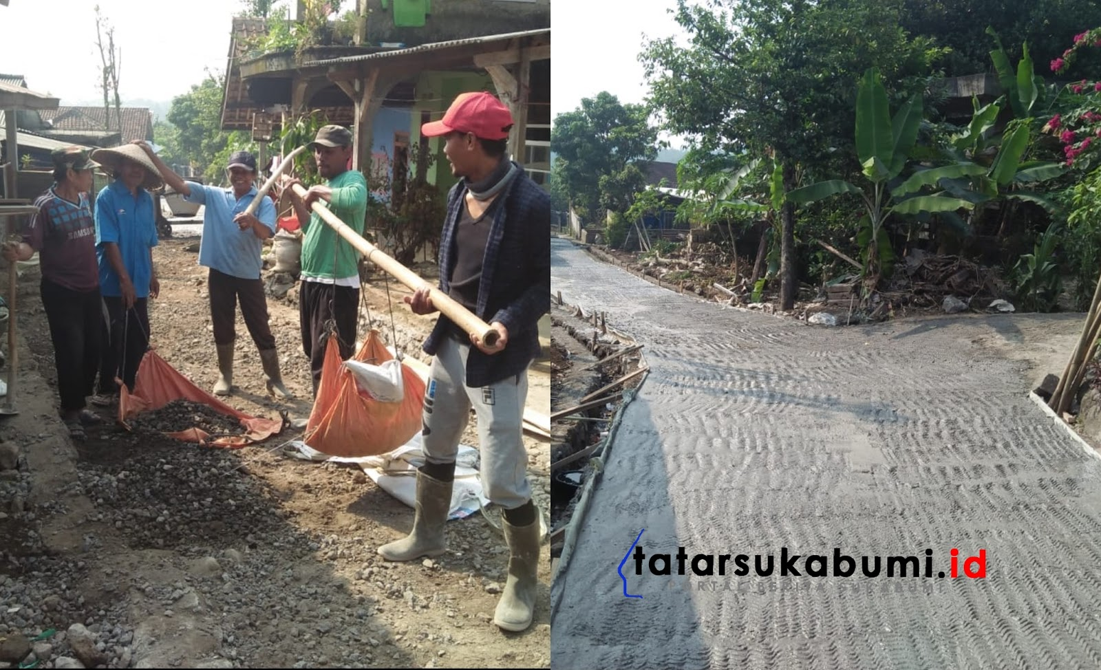Pemdes Sukaharja Bogor Bangun Ruas Jalan Baru