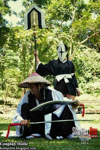 bleach cosplay - kyoraku shunsui and yadomaru lisa by ysabel
