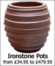 Large Ironstone Garden Pots and Planters