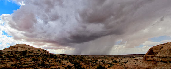 Rain storm moving across the San Rafael Desert