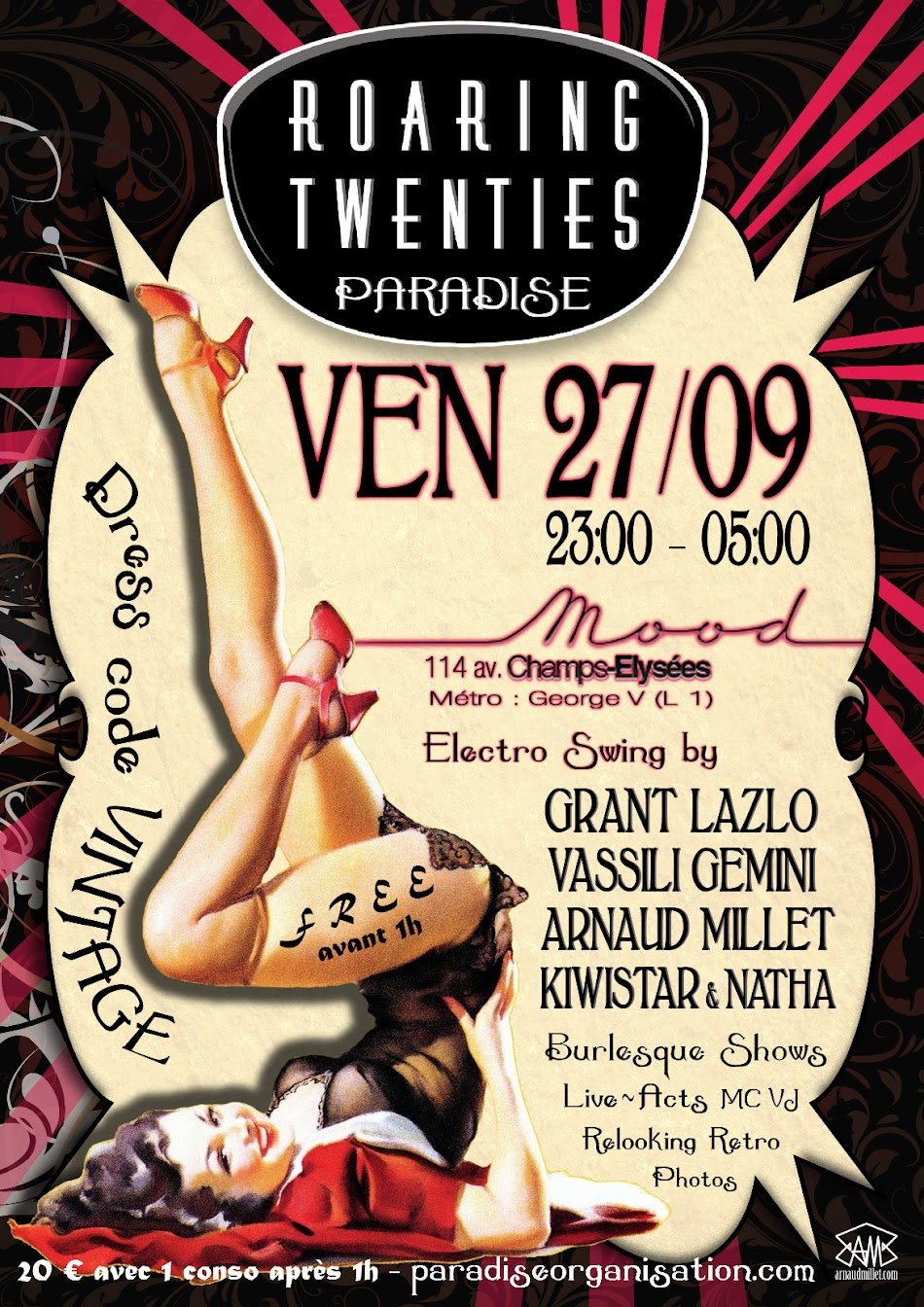 Paradise Organisation - Arnaud Millet - Roaring Twenties - Vintage - Electro-Swing - 1920 - 2020 - A century of crazy years