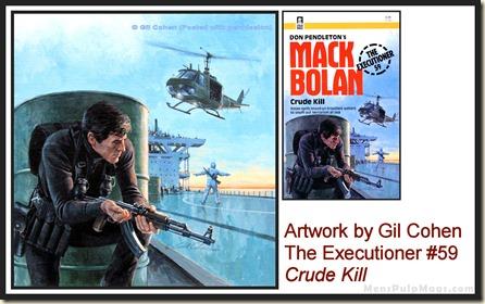Executioner #59, art by Gil Cohen - MensPulpMags.com