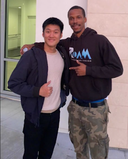 Alaric Moses Ong with Olympic Athlete Zwede Hewitt