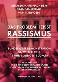 Werbeplakat für die Demo in Solingen.
