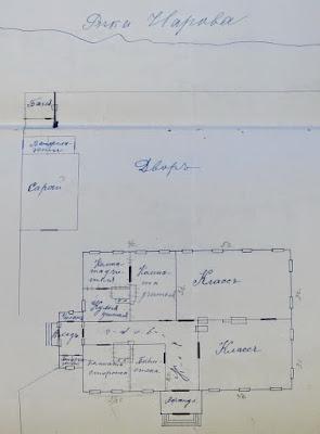 План Сыренецкой церковно-приходской школы (позднее правительственное училище), прим. 1910 г.