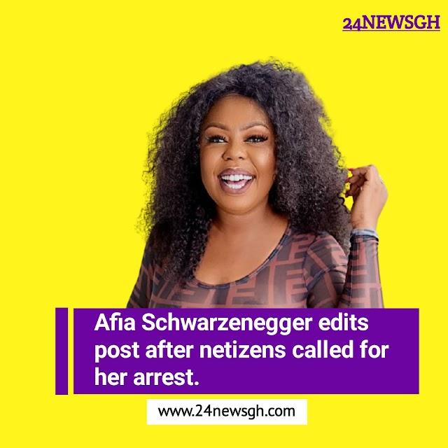 Afia Schwarzenegger edits post after netizens called for her arrest (Proof)