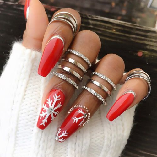 38 Perfect and Outstanding Christmas Nail Ideas , Fashionre