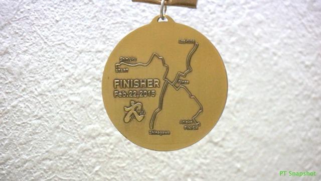 2015东京马拉松奖牌背面