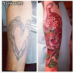 forearm heart tigre - Cover UP Tattoos Pictures