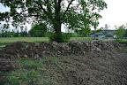 To všechno jsou kameny z přední části pozemku. Část jsme jich využili u fontány na drenáž a začátek kamenitého potůčku.