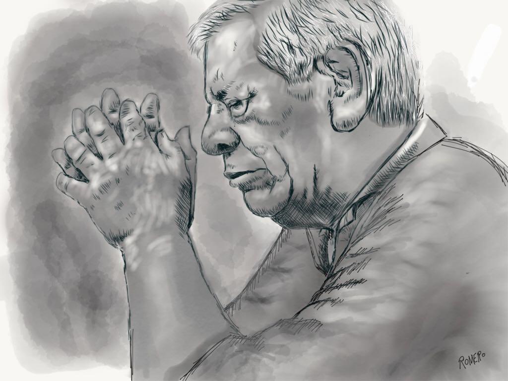 Praying man made with Sketches