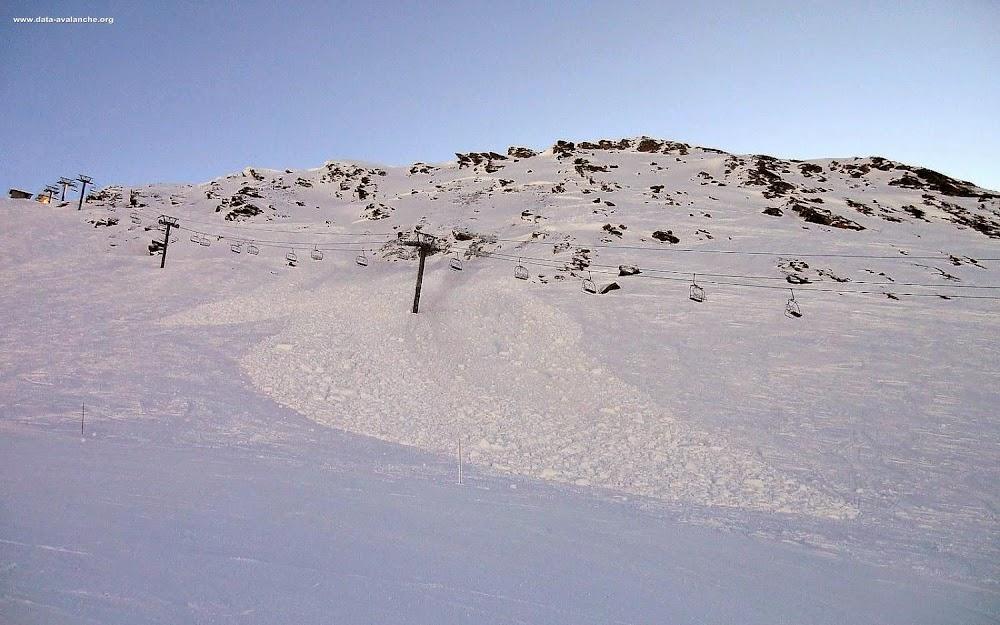 Avalanche Haute Tarentaise, secteur Val d'Isère, Secteur de Cugnaï face Nord - Photo 1