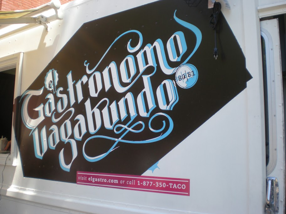 The El Gastronomo Vagabundo truck was used to serve tacos for the third La Carnita event.