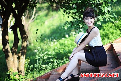 Thiếu nữ Vinh khoe vẻ đẹp căng tràn