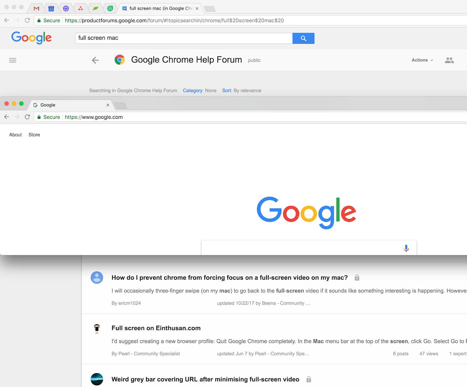MacOS maximize/full screen new person - Google Chrome Help