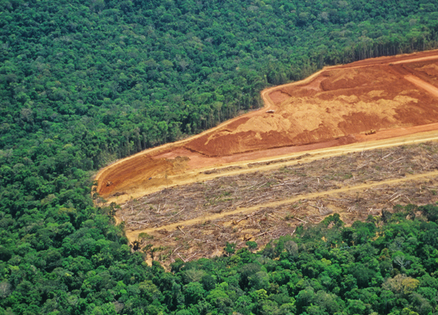 Aerial view of deforestation in the Amazon rainforest in northern Brazil. Photo: luoman / Conservation International