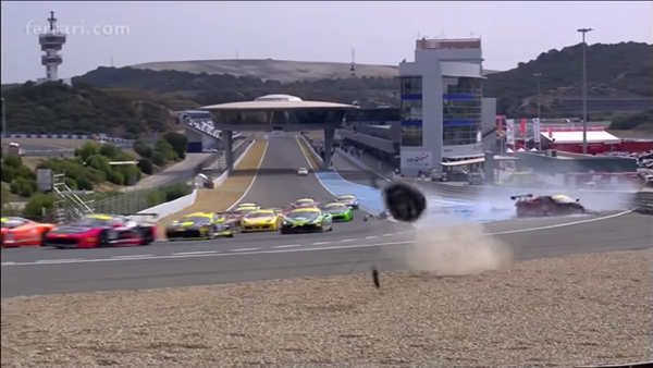 Ferrari Challenge Crash