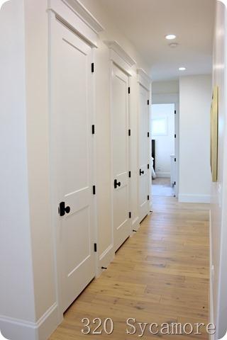 hallway of closets