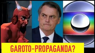Globo volta a atacar e em programa humorístico associa Bolsonaro ao diabo. Confira!