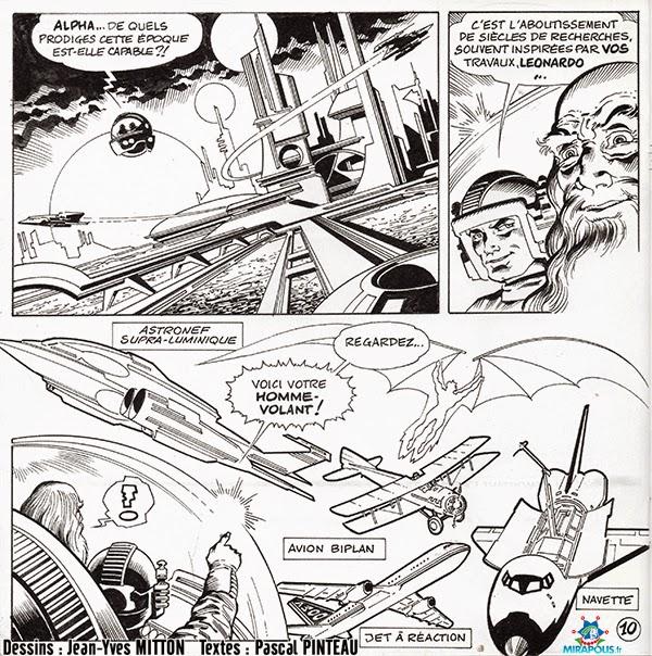 Page 10 de la BD Leonard de Vinci vendue a Mirapolis