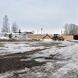 Вот такая площадь расчищена на стадионе. Здесь будет построен спортивный комплекс.