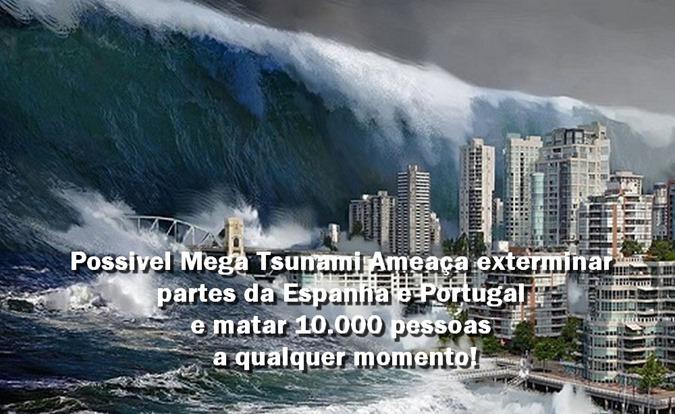 Possivel Mega Tsunami Ameaça exterminar partes da Espanha e Portugal e matar 10.000