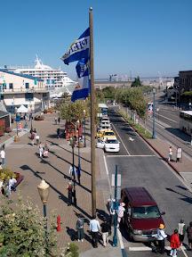 Overlooking Embarcadero Road at Fisherman's Wharf