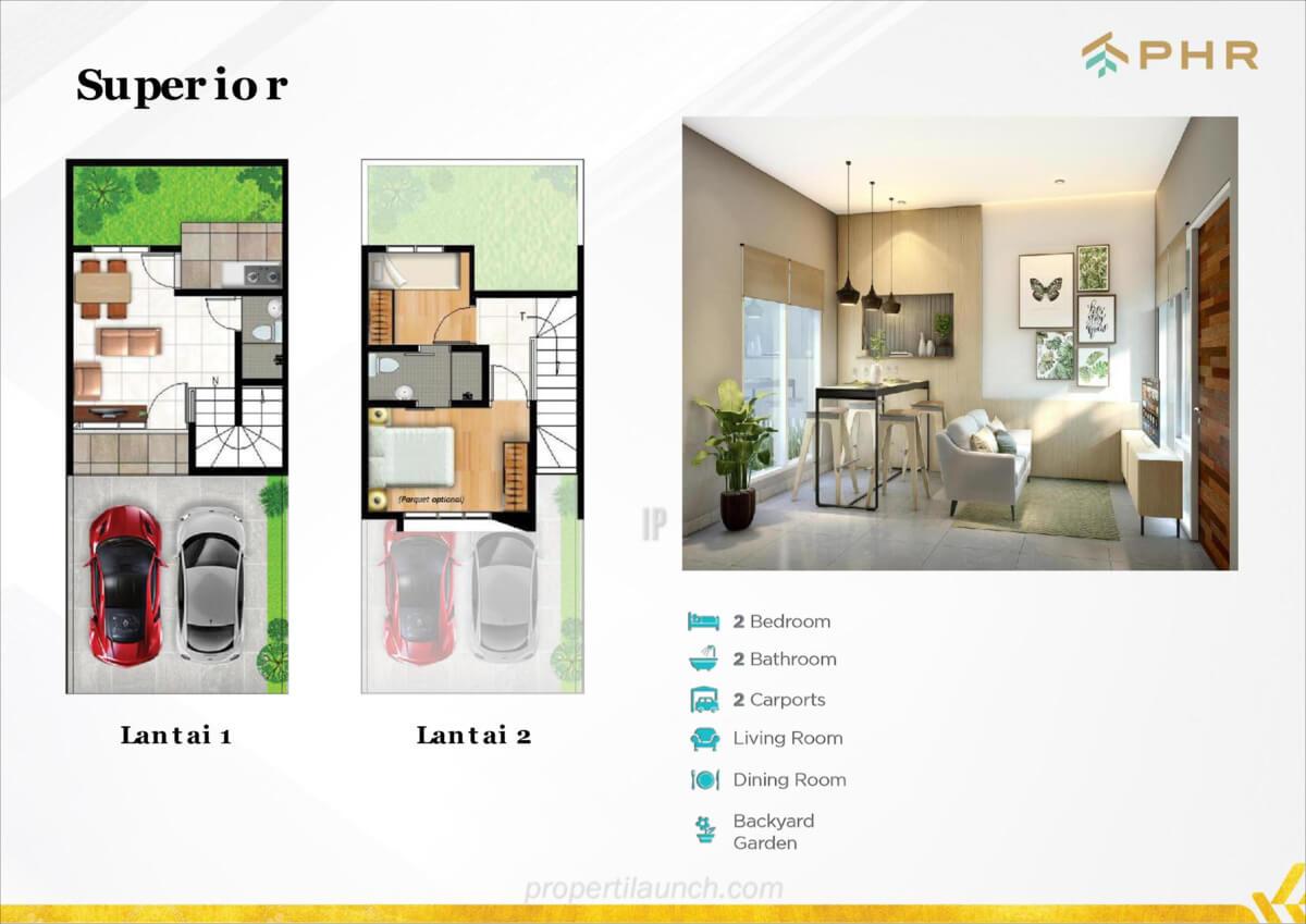 Denah Rumah Cluster Vettore Tipe Superior