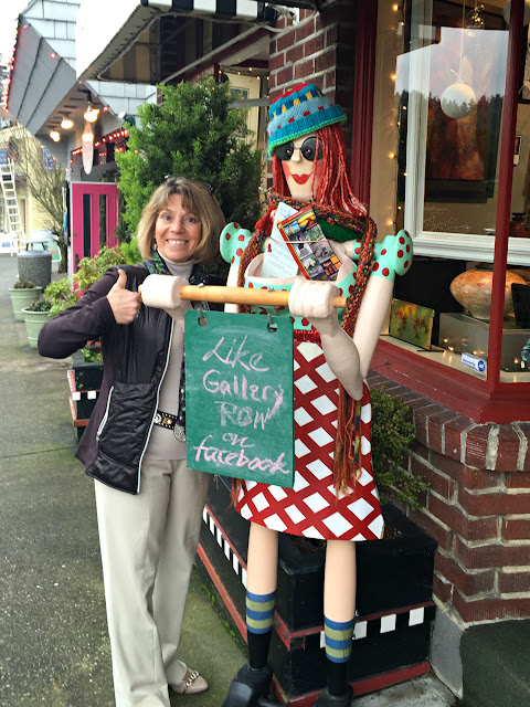 Janet Matzke outfront Gallery Row in Gig Harbor