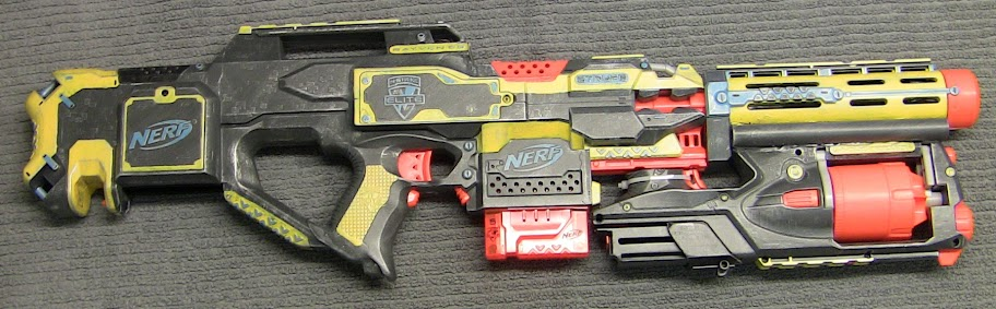 Nerf Strongarm: Heatgun bending #Nerf #Modding #Blaster #DIY