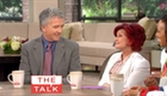 Frame Grab of Patrick Duffy on The Talk spontaneous