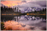 """Mt Baker Sunrise"" by Ardythe Wendt - 1st Place A General"
