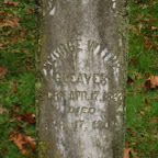 George Wythe Gleaves Son of James Turk Gleaves Fleming Methodist Church Cemetery Wythe County, Virginia
