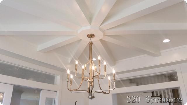 ceiling starburst pattern