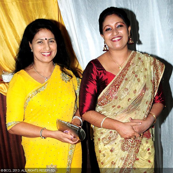 Ambika and Thesni Khan during Asif Ali and Zama Mazreen's wedding reception held in Kerala.