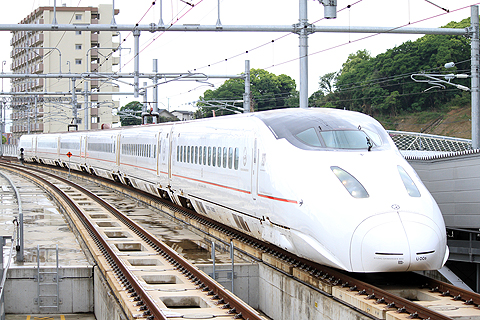 JR九州 800系新幹線 熊本駅にて